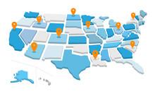 Mappa Degli Stati Uniti D'amer...