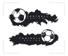 Abstract Design With Soccer Ba...