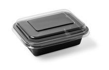 Black Plastic Food Container