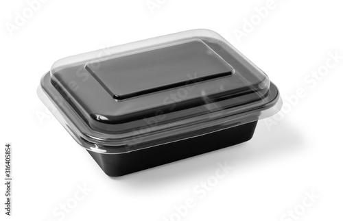 Fotografía Black Plastic food container