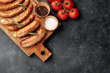 Various Grilled Sausages With ...