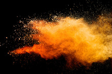 Abstract Orange Powder Explosi...