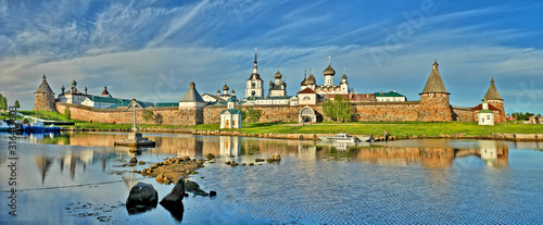 Fotografiet The Solovetsky Monastery -  fortified monastery located on the Solovetsky Island