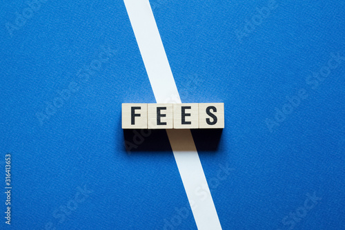 Fotomural Fees word concept on cubes