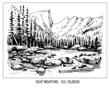 Rocky Mountains. Landscape Of ...