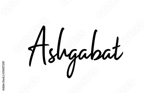 Ashgabat capital word city typography hand written text modern calligraphy lette Wallpaper Mural
