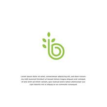 Letter B Nature Logo Icon Desi...