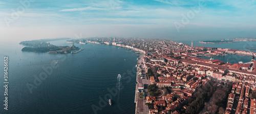 Fototapeta Aerial panorama of the historical part of Venice, Italy obraz