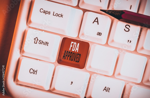 Handwriting text Fda Approved Canvas Print