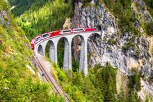 Landwasser Viaduct In Summer, ...