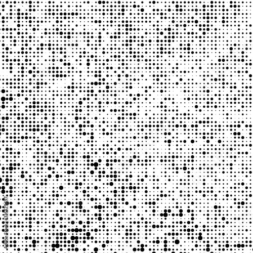 Fényképezés Abstract halftone black and white vector background