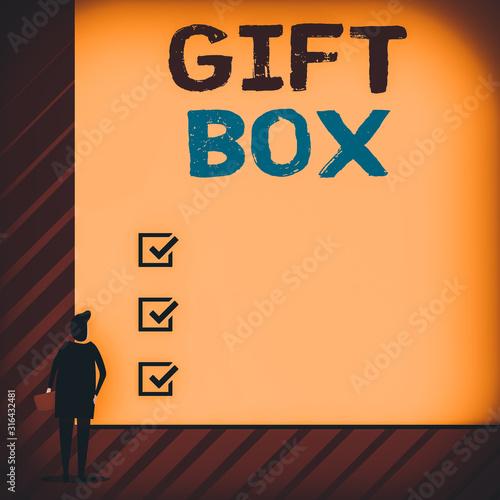 Handwriting text writing Gift Box Wallpaper Mural