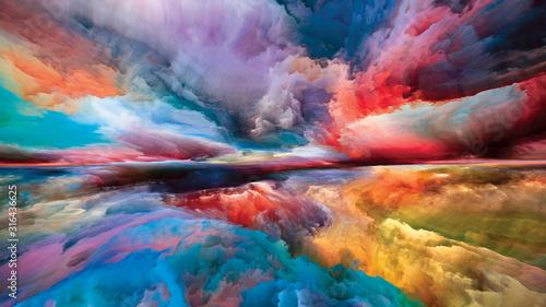 Obraz Vibrant Land and Sky - fototapety do salonu