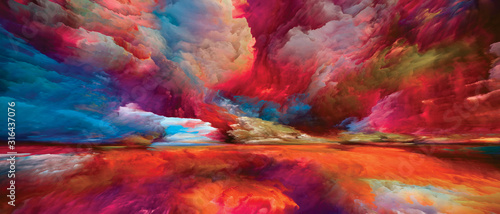 Obraz na plátně Heaven and Earth Composition