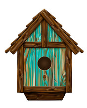 Bird House. Wall Sticker. Arti...