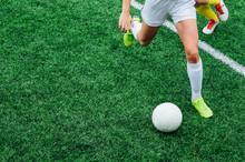 Unrecognizable Female Soccer P...