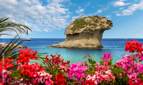 Fotomural Landscape with Il Fungo of  Lacco Ameno, coast of Ischia island, Italy