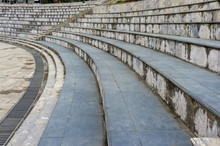 Granite Stairs, Abstract Steps, City Stairs, A Wide Concrete Staircase, Which Can Often Be Seen In Amphitheaters, Wide Stone Stairs, Fractal Diagonal, Nobody