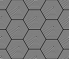 Seamless Hexagons Pattern. Lin...