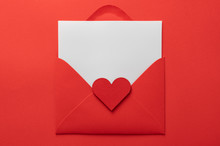 Valentines Day Love Letter Flat Lay Background