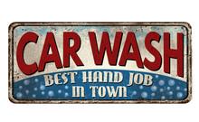 Car Wash Vintage Rusty Metal S...