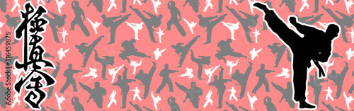 Martial art colored simbol design. Karate emblem. Fototapeta