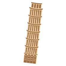Isolated Leaning Tower Of Pisa...