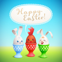 Happy Easter! Vector Greeting ...