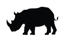 Rhinoceros Ancient  Animal Silhouette Vector
