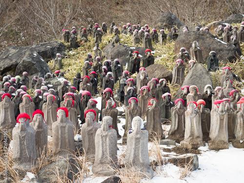 栃木県那須町 殺生石園地の千体地蔵 Canvas-taulu