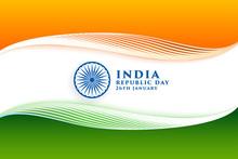 Elegant Indian Flag For Happy ...
