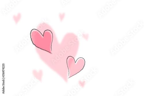 Fotografia Cute design with heart.  ハートを使った可愛いデザイン