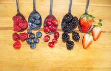 Fresh Colorful Mix Berries Dis...