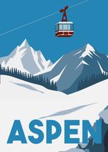 Aspen Colorado Vector Illustra...