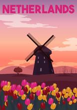 Netherlands Vector Illustration Background