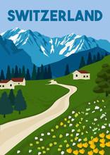Switzerland Vector Illustration Background
