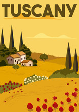Tuscany Vector Illustration Ba...