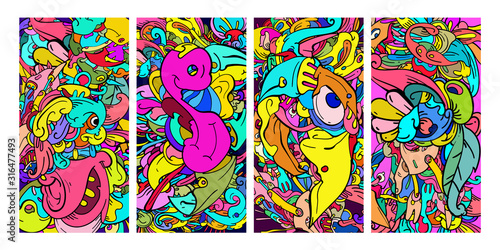 Fototapeta Abstract Colorful Blank Banner Template for Web Design, Landing page, social media story, and Fabric Print Material. obraz na płótnie