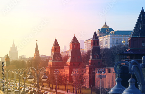 Photo Beautiful photo of views of the Moscow Kremlin