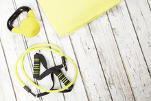 Fitness And Exercise Gear, Copy Space