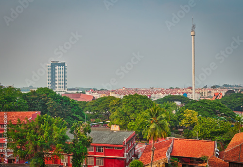 View of Malacca City, Malaysia, skyline panorama. #316480004