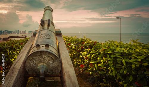 Fort Cornwallis in George Town, Penang, Malaysia. Panorama #316480039