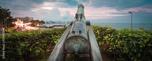 Fotografiet Fort Cornwallis in George Town, Penang, Malaysia. Panorama