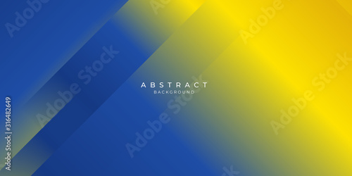 Obraz Blue yellow abstract background suit for presentation design - fototapety do salonu