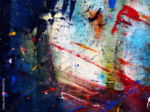 Abstract colorful watercolor painting background with texture.