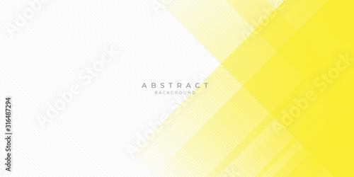 Fototapeta Abstract background yellow white for presentation design, banner, modern corporate concept. obraz
