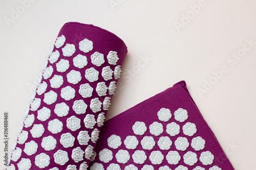 Photo Acupressure mat and pillow for massage, alternative medicine