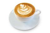 Hot mocha latte coffee or cappuccino