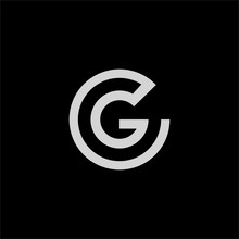 Initial Letter Gc Or Cg Logo Design Template