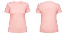 Blank Pink Female T Shirt Temp...